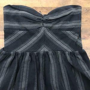 ROXY Women/'s Black /& Gray Fall Doll Strapless Dress Sizes XS-S-M
